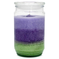 Lavender Thyme Scented Mottled Wax Candle