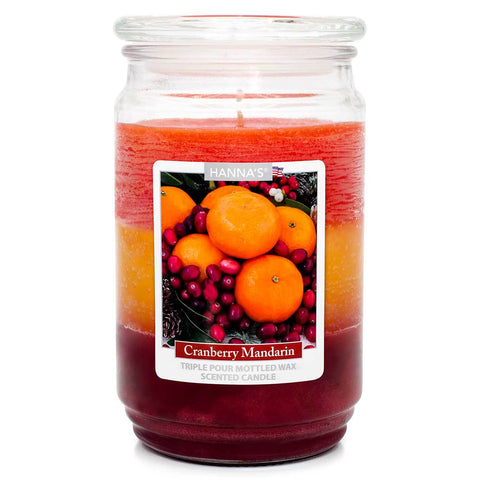 Cranberry Mandarin Scented Mottled Wax Candle - Candlemart.com