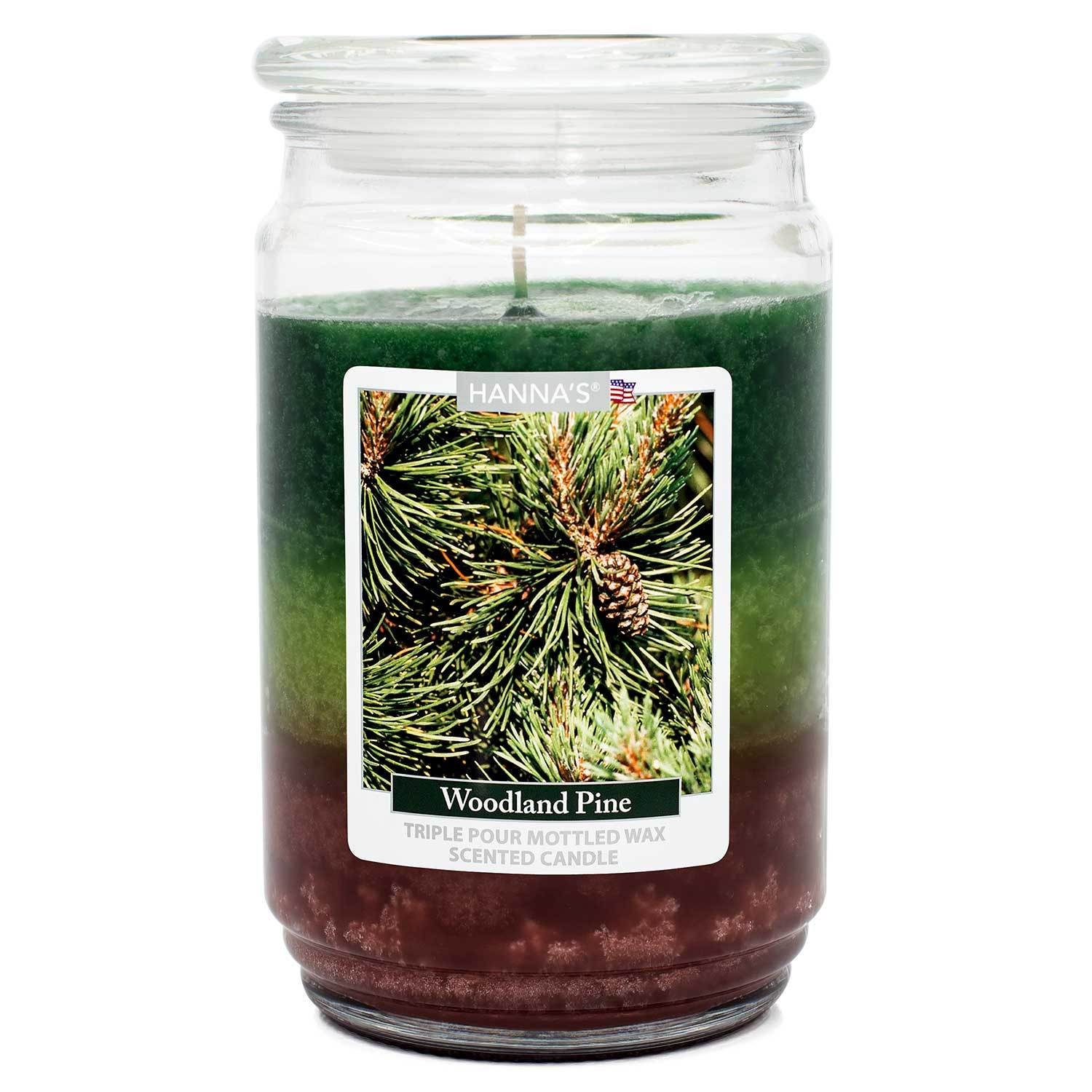 Woodland Pine Scented Mottled Wax Candle