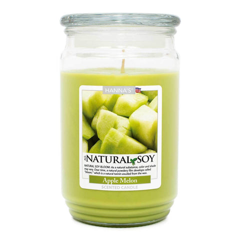 Natural Soy Apple Melon Scented Soy Candle - Candlemart.com