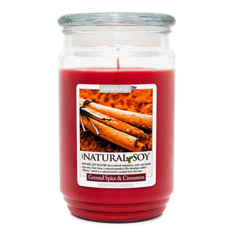 Natural Soy Ground Cinnamon & Spice Scented Soy Candle - Candlemart.com