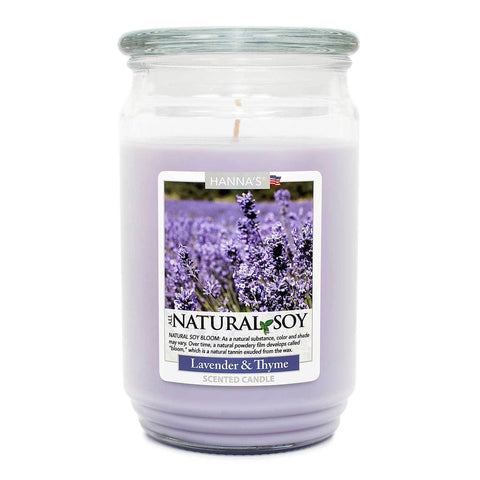 Natural Soy Lavender Thyme Scented Soy Candle 100% Soy Candles Candlemart.com $ 11.99
