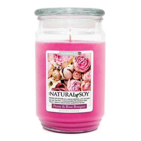 Natural Soy Peony Rose Bouquet Scented Soy Candle 100% Soy Candles Candlemart.com $ 12.99