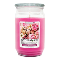 Natural Soy Peony Rose Bouquet Scented Soy Candle - Candlemart.com