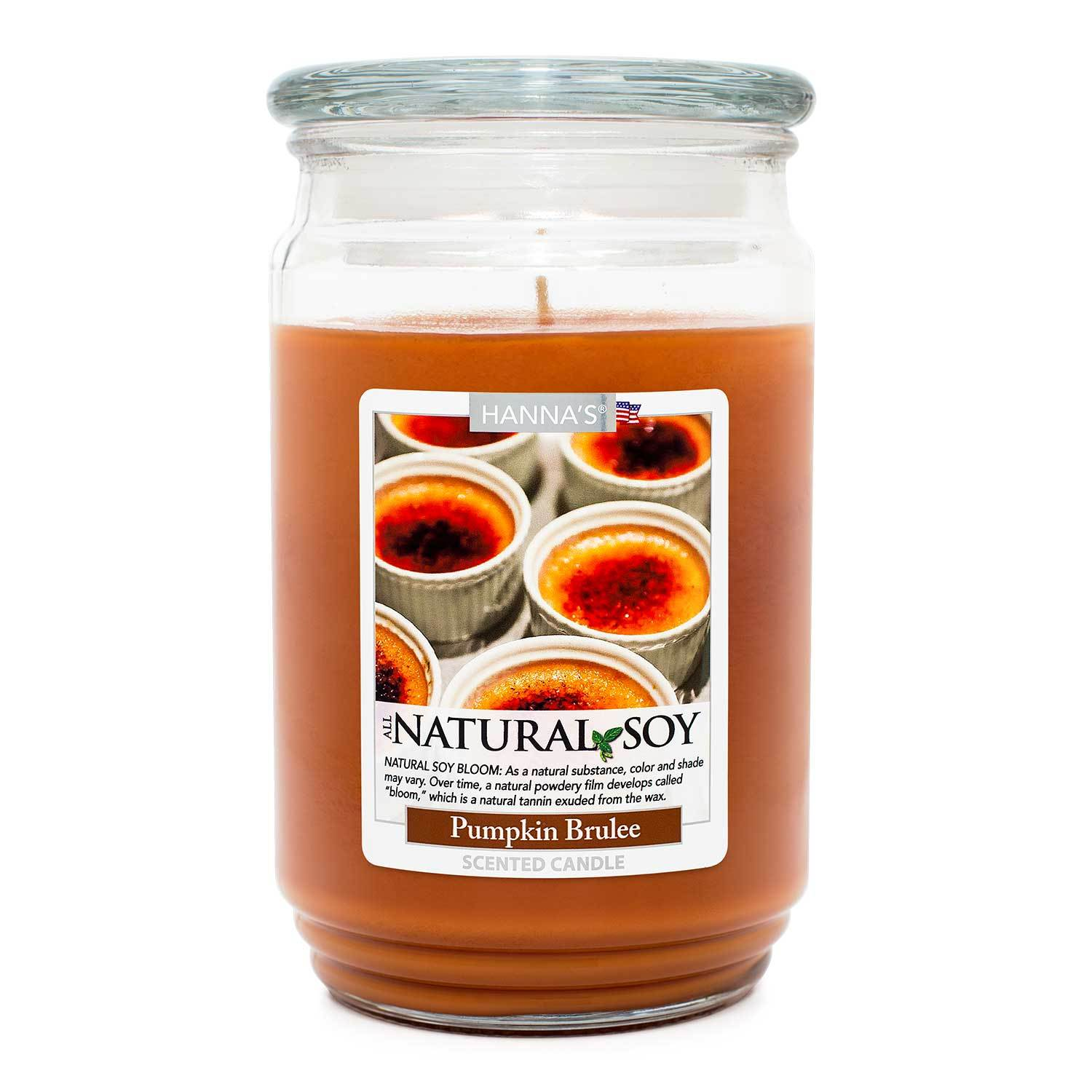 Natural Soy Pumpkin Brulee Scented Soy Candle 100% Soy Candles Candlemart.com $ 12.99