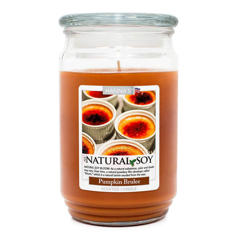 Natural Soy Pumpkin Brulee Scented Soy Candle 100% Soy Candles Candlemart.com $ 9.99