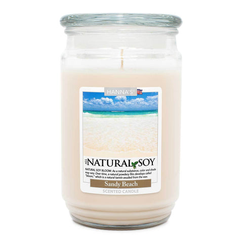 Natural Soy Sandy Beach Scented Soy Candle 100% Soy Candles Candlemart.com $ 12.99