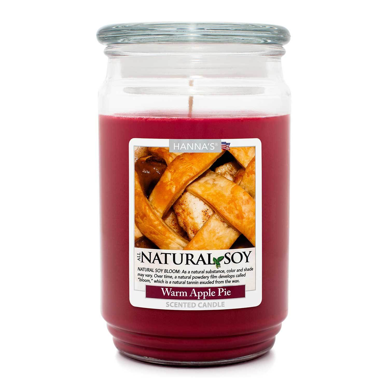 Natural Soy Warm Apple Pie Scented Soy Candle - Candlemart.com
