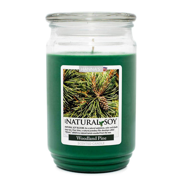 Natural Soy Woodland Pine Scented Soy Candle - Candlemart.com