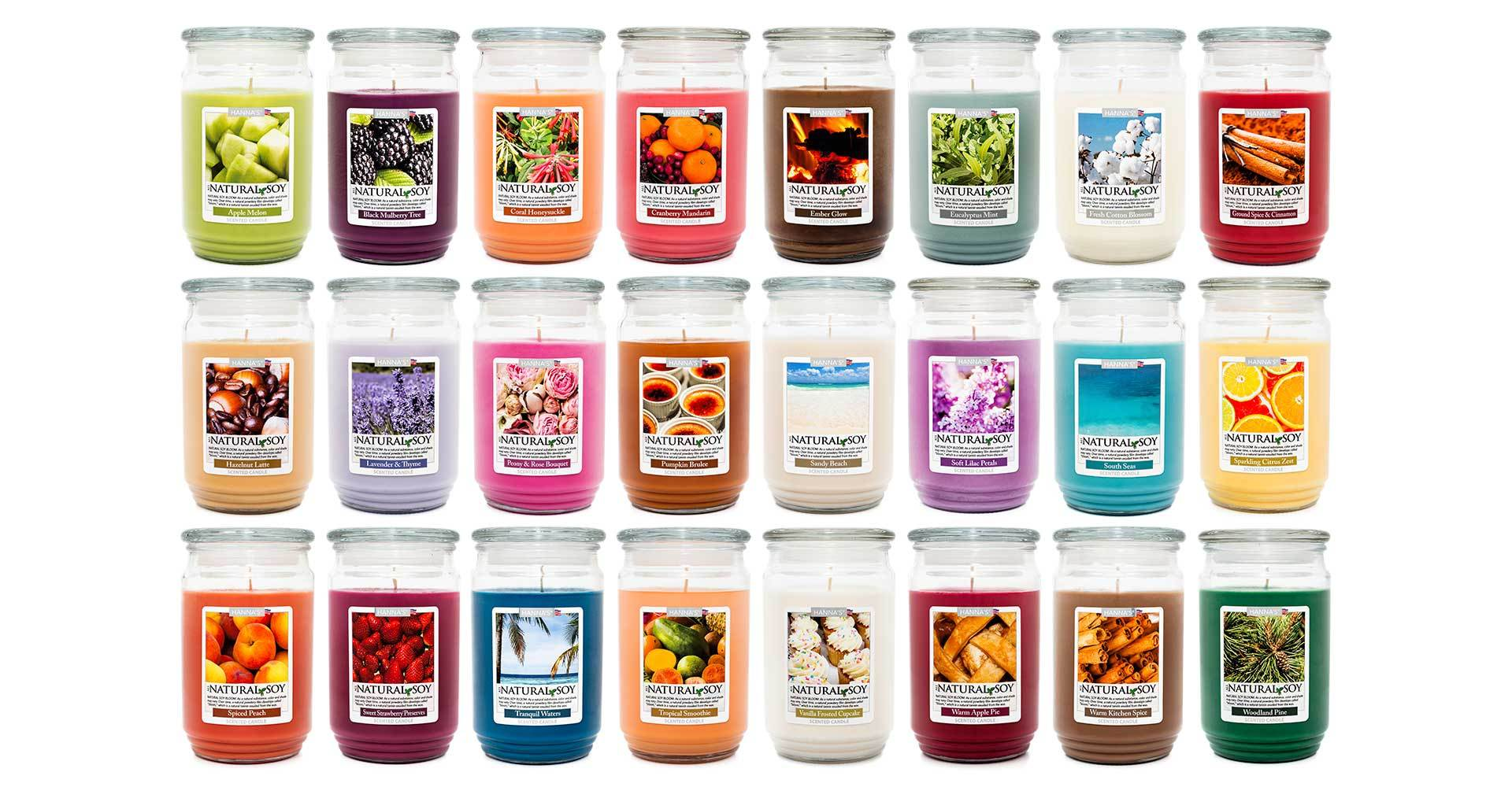 Natural Soy Coral Honeysuckle Scented Soy Candle - Candlemart.com