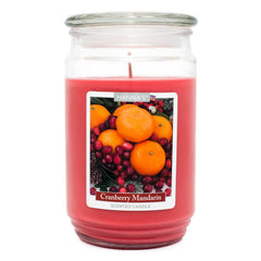 Cranberry Mandarin Scented Large Candle - Candlemart.com