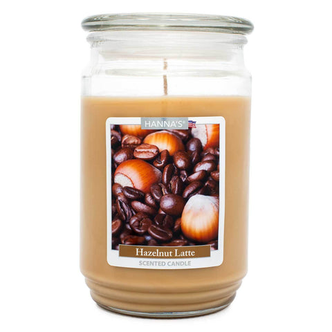 Hazelnut Latte Scented Large Candle