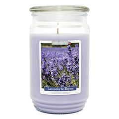 Lavender Thyme Scented Large Candle
