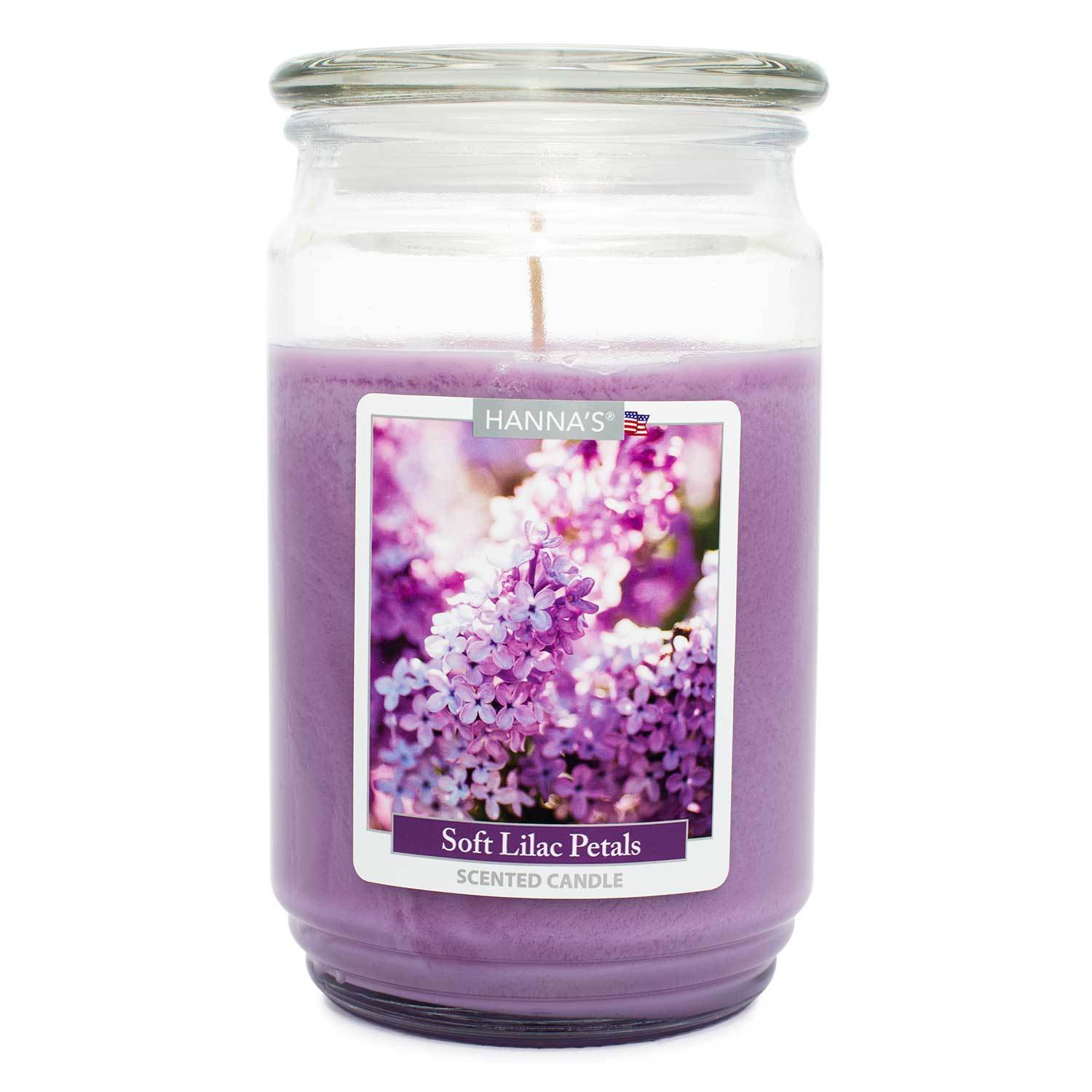 Soft Lilac Petals Scented Large Candle Candles Candlemart.com $ 12.99