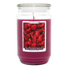 Sweet Strawberry Preserves Scented Large Candle - Candlemart.com