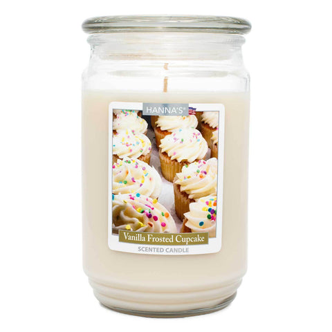 Vanilla Frosted Cupcake Scented Large Candle Candles Candlemart.com $ 12.99