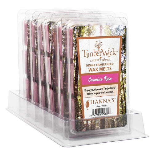 Timberwick Carmine Rose Wax Melts 6 Pack - Candlemart.com