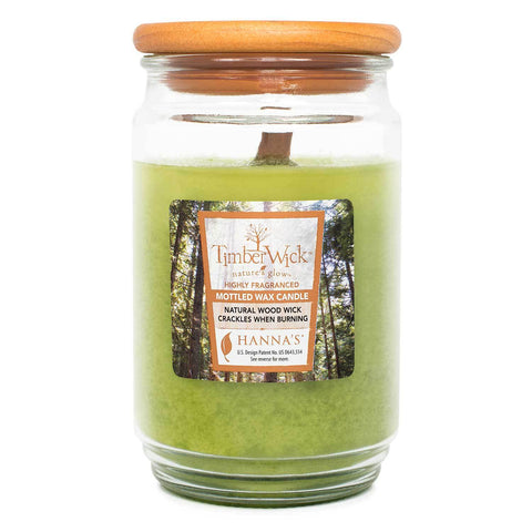 TimberWick Apple Melon Scented Mottled Candle