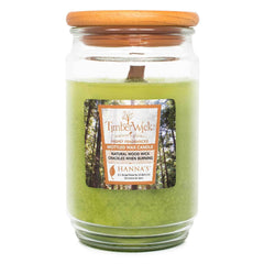 TimberWick Apple Melon Scented Mottled Candle Timberwick Candlemart.com $ 14.99
