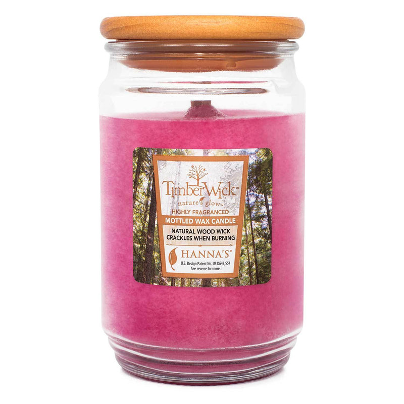 TimberWick Carmine Rose Scented Mottled Candle