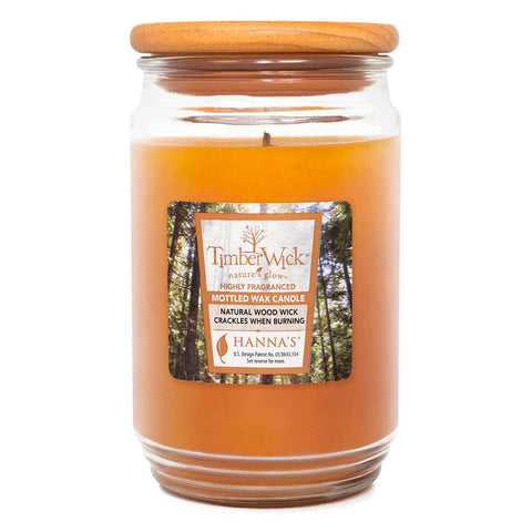 TimberWick Cedar Oakwood Scented Mottled Candle