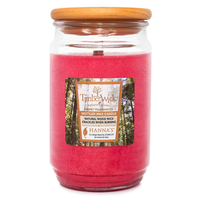 TimberWick Cranberry Mandarin Scented Mottled Candle