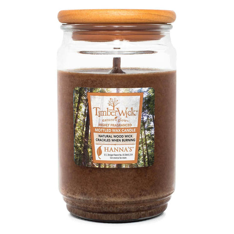 TimberWick Ember Glow Scented Mottled Candle Timberwick Candlemart.com $ 14.99