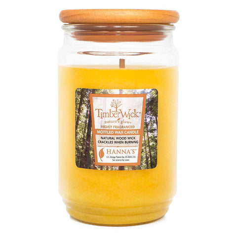 TimberWick Hawaiian Delight Scented Mottled Candle