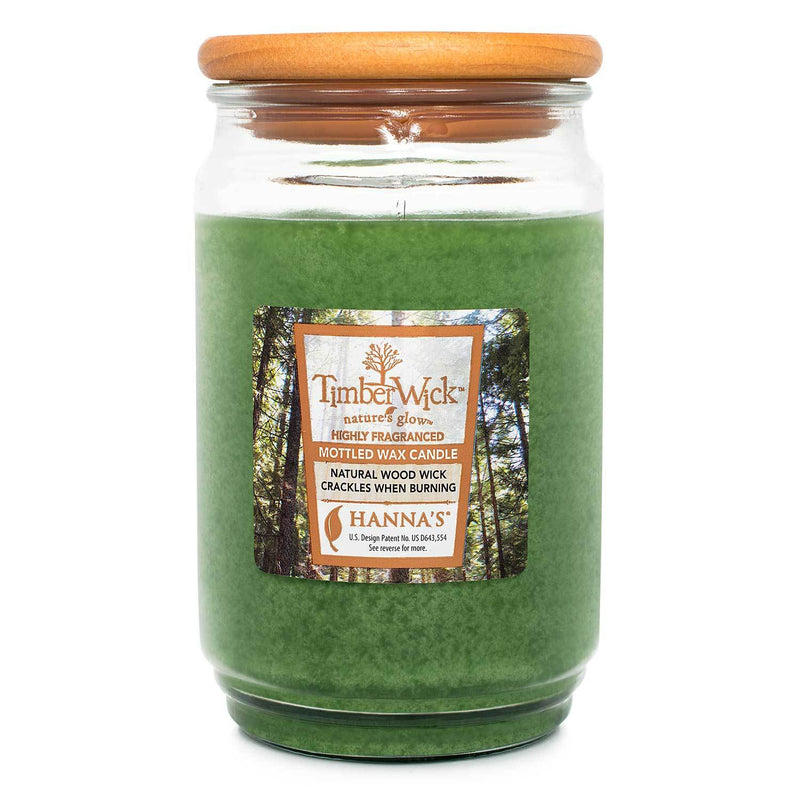 TimberWick Pine Meadow Scented Mottled Candle