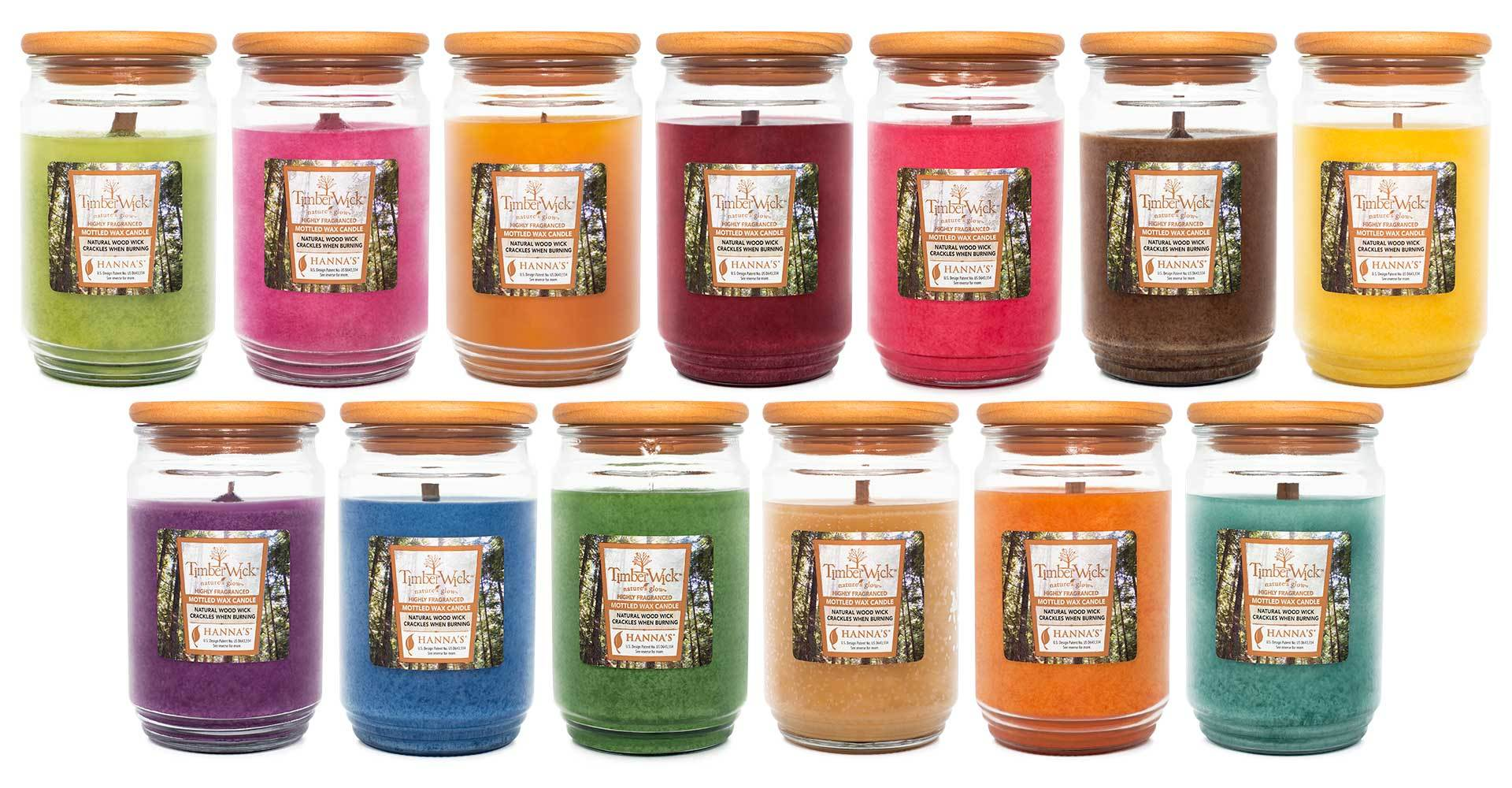 TimberWick Cranberry Mandarin Scented Mottled Candle Timberwick Candlemart.com $ 14.99