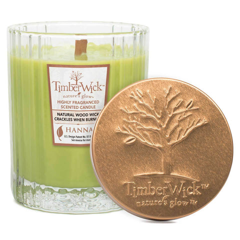 Timberwick Apple Melon Scented Wax Textured Tumbler Candle Timberwick Candlemart.com $ 9.99