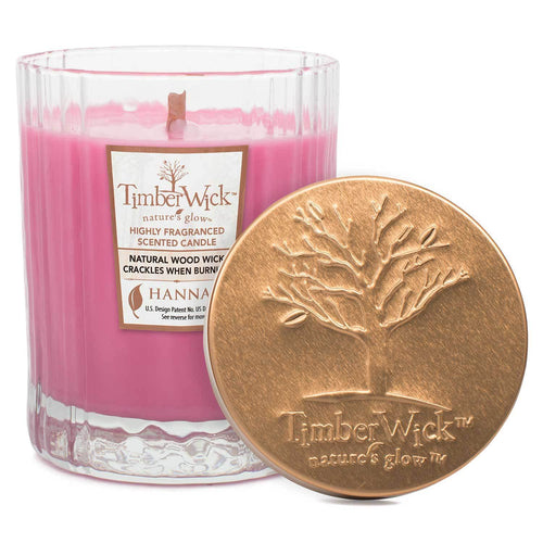Timberwick Carmine Rose Scented Wax Textured Tumbler Candle - Candlemart.com