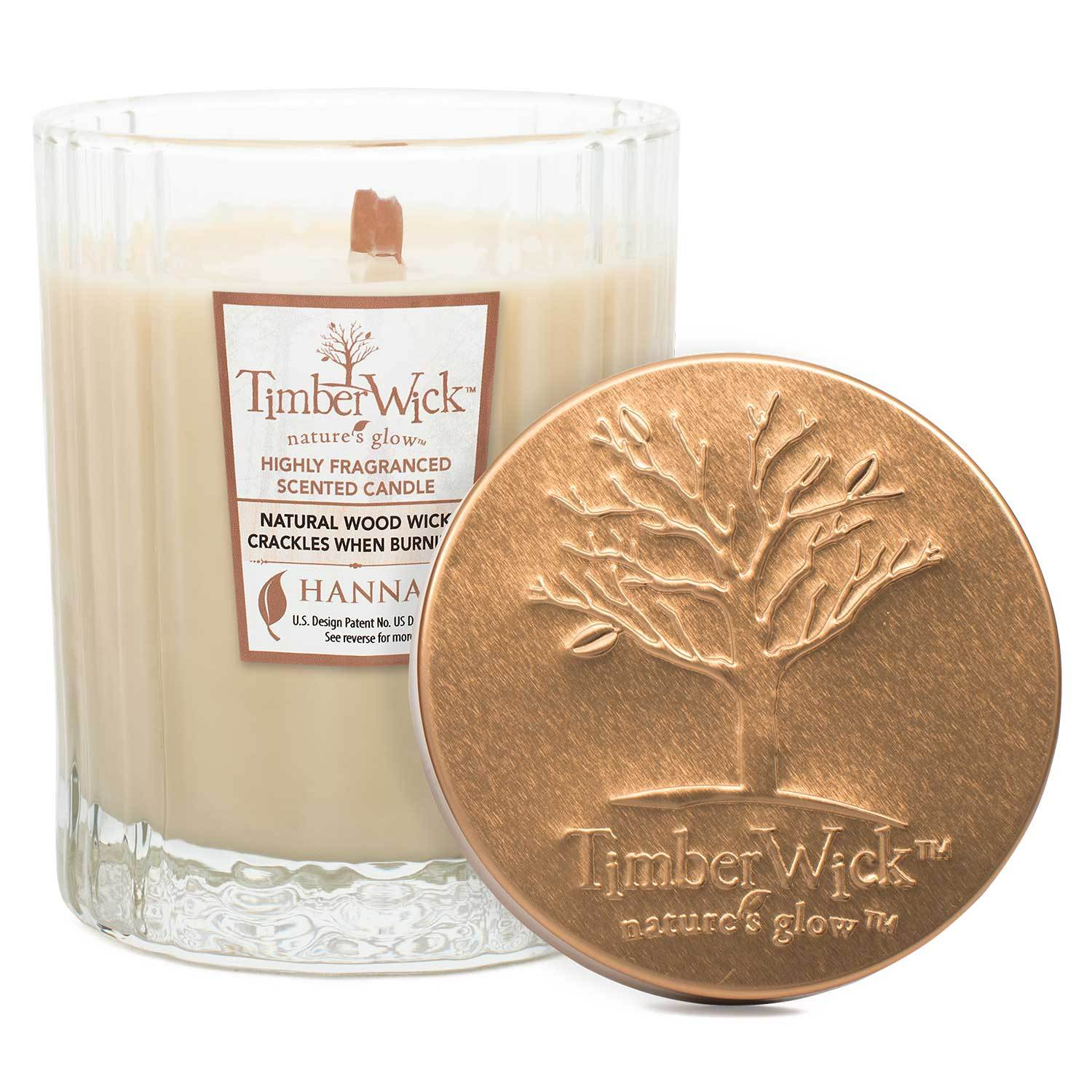 Timberwick Vanilla Brulee Scented Wax Textured Tumbler Candle Timberwick Candlemart.com $ 9.99