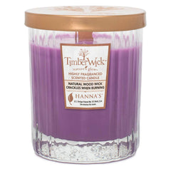 Timberwick Lavender Sachet Scented Wax Textured Tumbler Candle - Candlemart.com