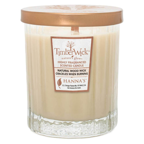 Timberwick Vanilla Brulee Scented Wax Textured Tumbler Candle - Candlemart.com