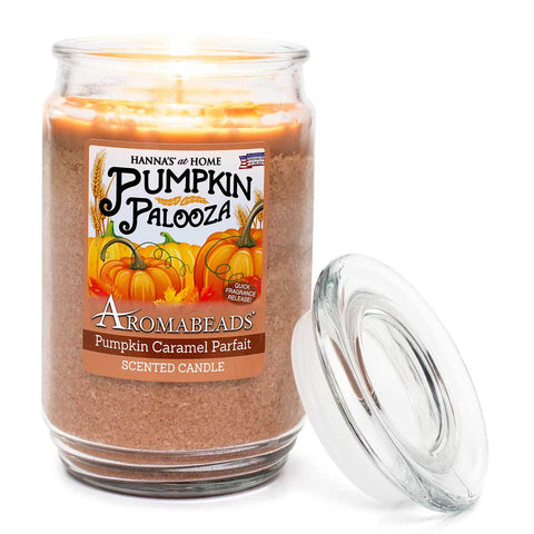 Aromabeads Pumpkin Caramel Parfait Scented Candle Aromabeads Candlemart.com $ 9.99