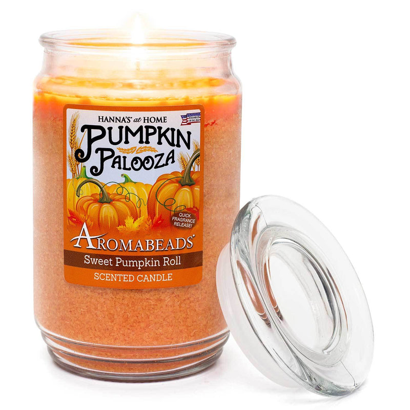 Aromabeads Sweet Pumpkin Roll Scented Candle - Candlemart.com