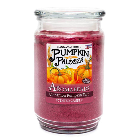 Aromabeads Cinnamon Pumpkin Tart Scented Candle - Candlemart.com