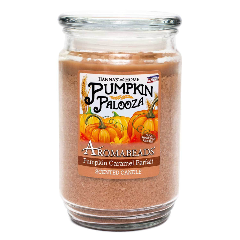 Aromabeads Pumpkin Caramel Parfait Scented Candle - Candlemart.com