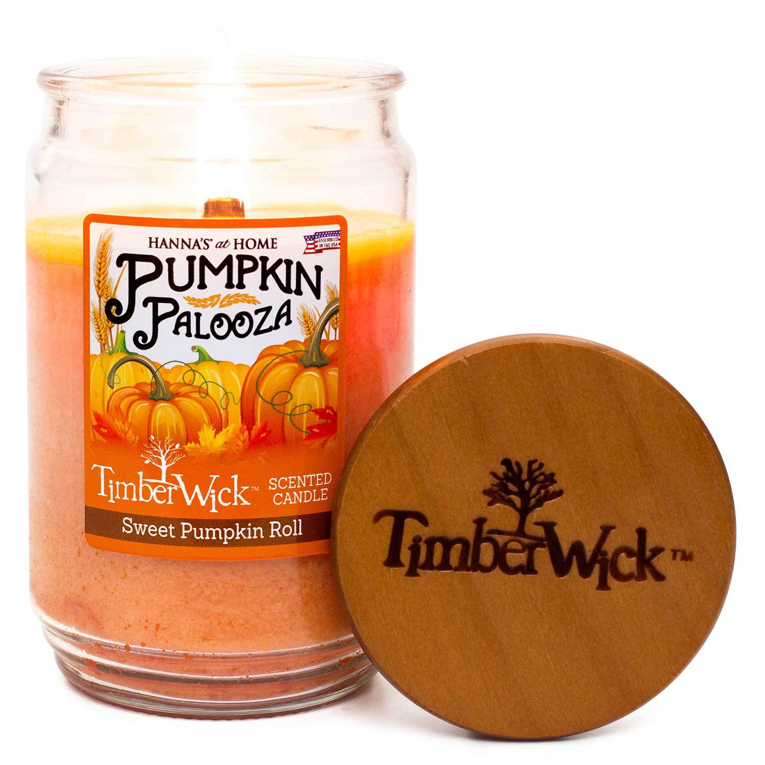 TimberWick Sweet Pumpkin Roll Mottled Scented Wax Candle Timberwick Candlemart.com $ 7.50