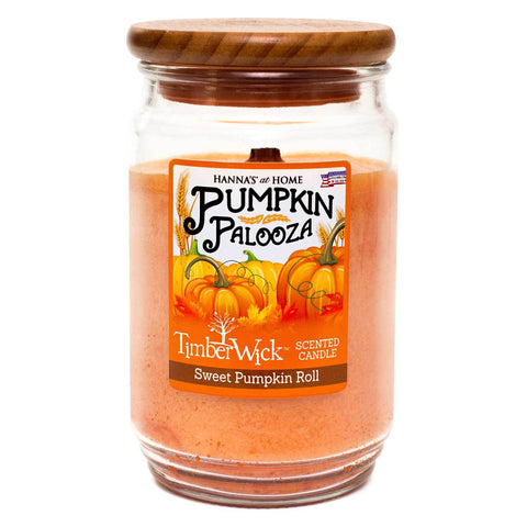 TimberWick Sweet Pumpkin Roll Mottled Scented Wax Candle Timberwick Candlemart.com $ 14.99