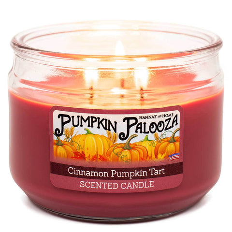 Cinnamon Pumpkin Tart Scented 3 wick Candle Candles Candlemart.com $ 7.99