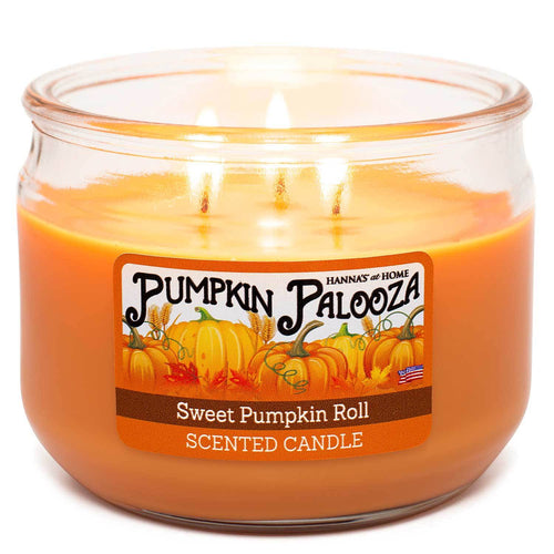 Sweet Pumpkin Roll Scented 3 Wick Candle - Candlemart.com