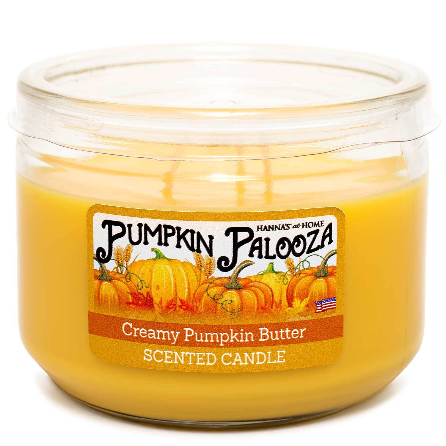 Creamy Pumpkin Butter Scented 3 wick Candle Candles Candlemart.com $ 7.99