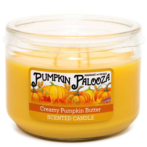 Creamy Pumpkin Butter Scented 3 wick Candle - Candlemart.com