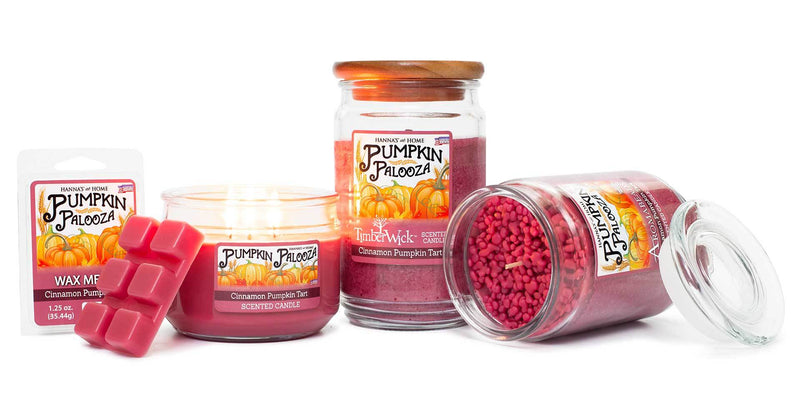 Cinnamon Pumpkin Tart Scented 3 wick Candle - Candlemart.com