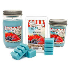 Wild Berry Scented Small Pint Jar Candle - Candlemart.com