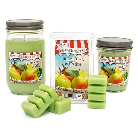 Juicy Pear Scented Small Pint Jar Candle - Candlemart.com