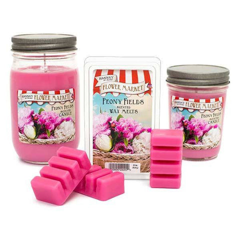 Peony Fields Scented Small Jar Candle - Candlemart.com