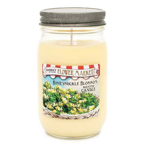 Honeysuckle Blossom Scented Large Jar Candle Candles Candlemart.com $ 9.99